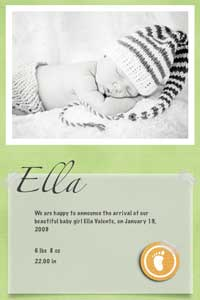 Share birth announcements through email and Facebook with Kd-Capsule for iPhone